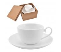 """Чайная пара  """"Классика"""" в подарочной упаковке Цвет: белый"""