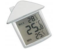 """Термометр на присоске  """"Дом"""" Цвет: серебристый"""