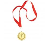 """Медаль наградная на ленте  """"Золото"""" Цвет: Золотистый"""