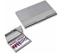Визитница; серебристый; 9,4х6,2х0,9 см; металл Цвет: серебристый