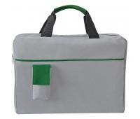 Конференц-сумка SENSE с карманом  Цвет: Зеленый