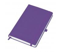 """Бизнес-блокнот """"Justy"""", 130*210 мм, ярко-фиолетовый,  тв. обложка,  резинка 7 мм, блок-линейка Цвет: Фиолетовый"""