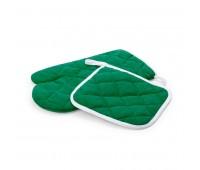 Набор: прихватка и рукавица LESTON Цвет: Зеленый