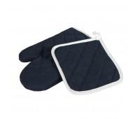 Набор: прихватка и рукавица LESTON Цвет: Темно-синий