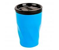"Термокружка  ""Neon"";  350 мл; голубой; металл/пластик Цвет: Голубой"
