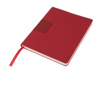 """Бизнес-блокнот """"Tweedi"""", 150х180 мм, красный, кремовая бумага, гибкая обложка, в линейку Цвет: Красный"""