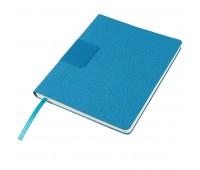 """Бизнес-блокнот """"Tweedi"""", 150х180 мм, лазурный, кремовая бумага, гибкая обложка, в линейку Цвет: Голубой"""