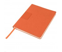 """Бизнес-блокнот """"Tweedi"""", 150х180 мм, оранжевый, кремовая бумага, гибкая обложка, в линейку Цвет: Оранжевый"""
