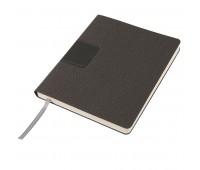 """Бизнес-блокнот """"Tweedi"""", 150х180 мм, серый, кремовая бумага, гибкая обложка, в линейку Цвет: Серый"""