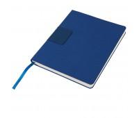 """Бизнес-блокнот """"Tweedi"""", 150х180 мм, синий, кремовая бумага, гибкая обложка, в линейку Цвет: Синий"""