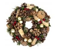 """Новогодний венок """"Christmas"""" Цвет: коричневый"""