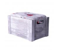 """Плед новогодний  """"Снегири"""" в подарочной коробке Цвет: серый, красный"""