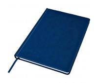 Ежедневник недатированный Bliss, А4,  темно-синий, белый блок, без обреза Цвет: Синий