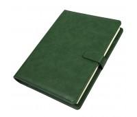 Ежедневник недатированный Coach, B5, зеленый, кремовый блок, подарочная коробка Цвет: Зеленый
