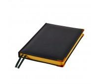 Ежедневник полудатированный Rarity, A5, черный, рециклированная кожа, кремовый блок, подарочная Цвет: Черный