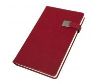 Ежедневник недатированный Linnie, А5, красный, кремовый блок Цвет: Красный