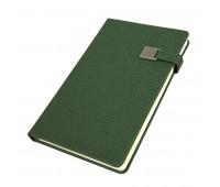 Ежедневник недатированный Linnie, А5, темно-зеленый, кремовый блок Цвет: Зеленый