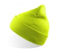 Шапка вязаная двойная WIND с отворотом Цвет: Желтый