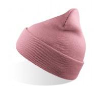 Шапка вязаная двойная WIND с отворотом Цвет: Розовый
