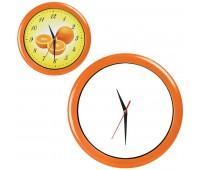 """Часы настенные """"ПРОМО"""" разборные Цвет: Оранжевый"""