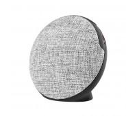 Bluetooth колонка FABRIC BASS круглая Цвет: черный, серый