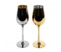 Набор бокалов для вина MOONSUN (2шт) Цвет: серебристый, золотистый