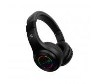 Наушники Bluetooth головные BRIGHTEN BS с подсветкой логотипа Цвет: Серый