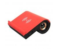 Колонка Bluetooth TIK-N-TALK, с функцией беспроводной зарядки, черный с красным Цвет: Красный