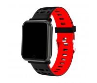 браслет к часам SAM черный/красный Цвет: Красный