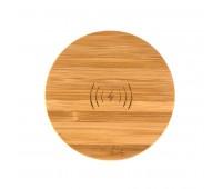 Зарядка беспроводная 5W бамбук BMB CHARGE 5 Цвет: натуральный