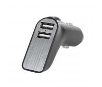 Адаптер автомобильный CARMATE с выходом USB иType C Цвет: черный