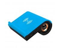 Колонка Bluetooth TIK-N-TALK, с функцией беспроводной зарядки, черный с синим Цвет: Синий