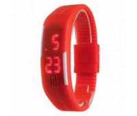 Часы наручные электронные A-WATCH в пластиковой коробке, цвет красный Цвет: Красный