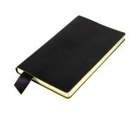 """Бизнес-блокнот """"Trendi"""", 130*210 мм, черно-желтый, мягкая обложка, в линейку Цвет: Черный"""