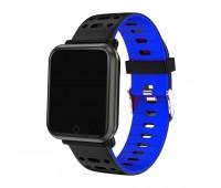 браслет к часам SAM черный/синий Цвет: Синий