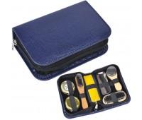 Набор для чистки одежды и обуви в пенале, 7 предметов Цвет: Темно-синий