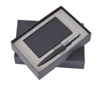 """Набор """"Mirror"""": универсальное зарядное устройство (6000мАh) и ручка Цвет: Черный"""