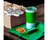Набор ACTIONLIFE: термокружка, шапка, украшение, зарядное устройство, коробка, светло-зеленый Цвет: Зеленый