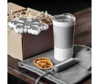 Набор ACTIONLIFE: термокружка, шапка, украшение, зарядное устройство, коробка, серый Цвет: Серый