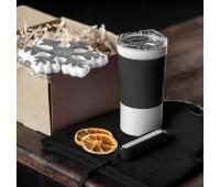 Набор ACTIONLIFE: термокружка, шапка, украшение, зарядное устройство, коробка, черный Цвет: Черный