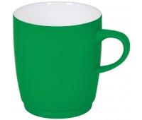 """Кружка """"Soft"""" с прорезиненным покрытием Цвет: Зеленый"""