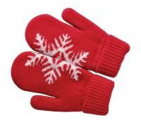 """Варежки """"Сложи снежинку!"""" с теплой подкладкой Цвет: Красный"""