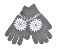 """Перчатки для сенсорных экранов  """"Снежинка"""" Цвет: Серый"""