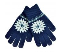 """Перчатки для сенсорных экранов  """"Снежинка"""" Цвет: Темно-синий"""