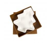 """Тарелка для закусок  """"Елочка"""" в подарочной упаковке Цвет: белый"""