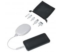 """Универсальное зарядное устройство-подставка для смартфона """"Handy"""" (2000мАh), с сумочкой Цвет: белый"""