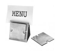 """Набор """"Dinner"""":подставка под кружку/стакан (6шт) и держатель для меню Цвет: серебристый"""