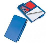 Мемо-кейс: записная книжка, визитница и авторучка Цвет: Бирюзовый