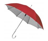 Зонт-трость SILVER, пластиковая ручка, полуавтомат Цвет: Красный