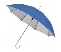 Зонт-трость SILVER, пластиковая ручка, полуавтомат Цвет: Синий